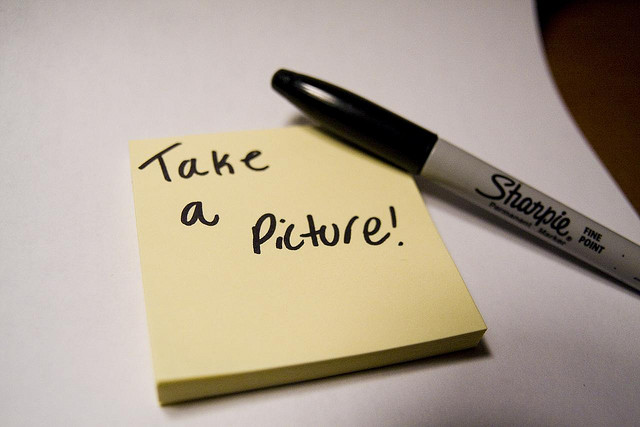 fear of public speaking training courses scotland take a picture Post-it note.
