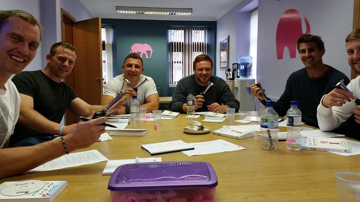 having laugh pink elephant media trainers.