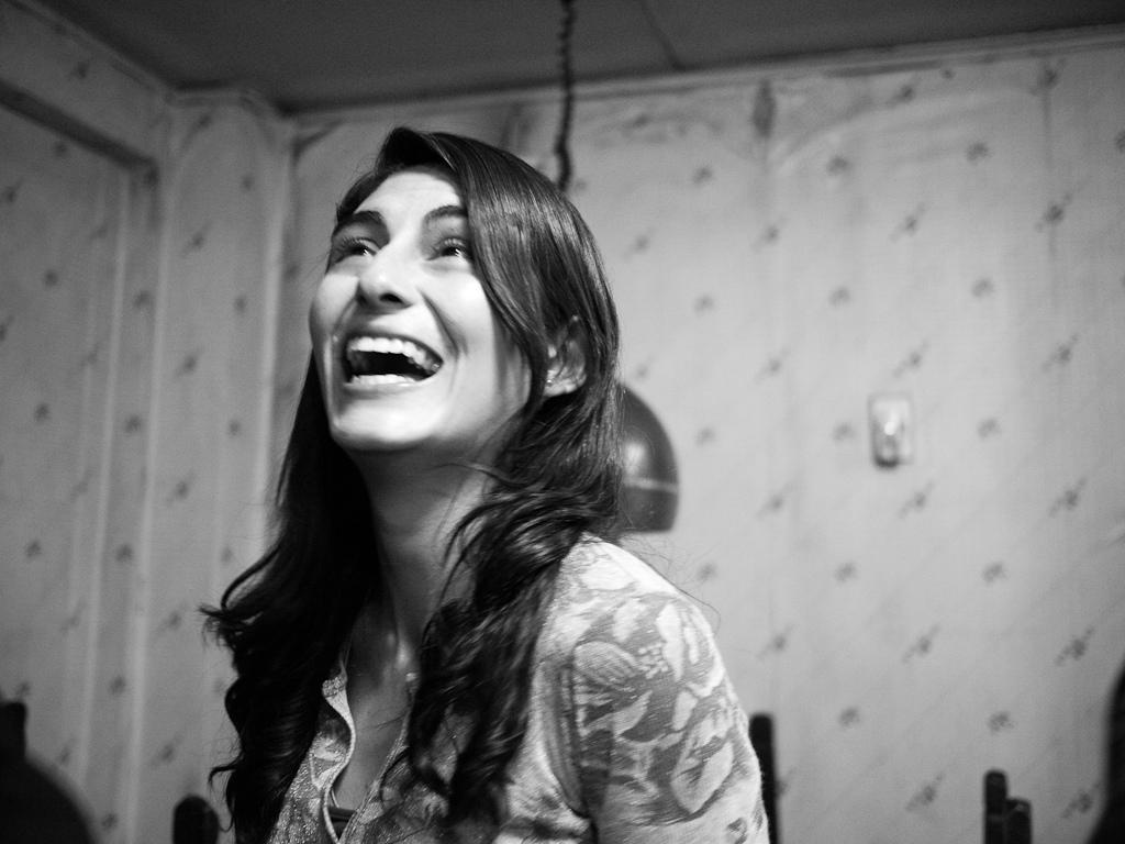 media training glasgow having laugh girl.