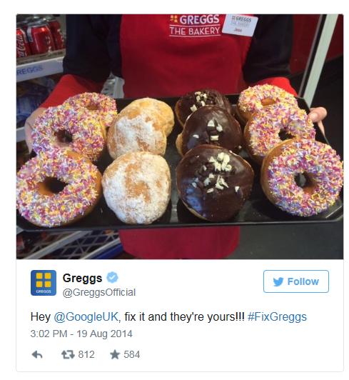 social media training courses scotland donuts greggs.