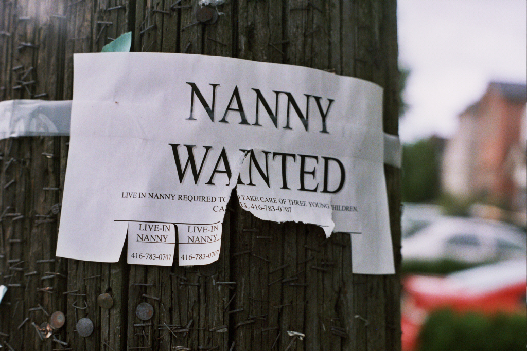 prime minister david cameron media interview training scotland nanny wanted poster on tree.
