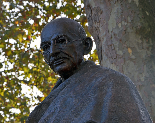 assertiveness training courses scotland Mahatma Gandhi statue.