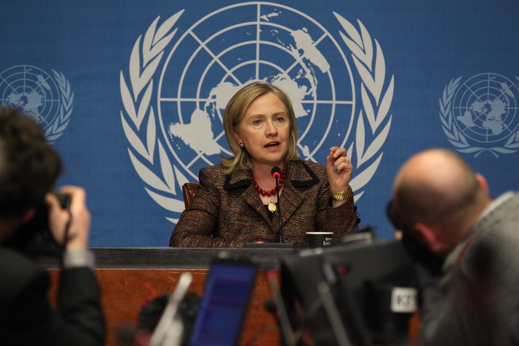 Democratic hopeful Hillary Clinton