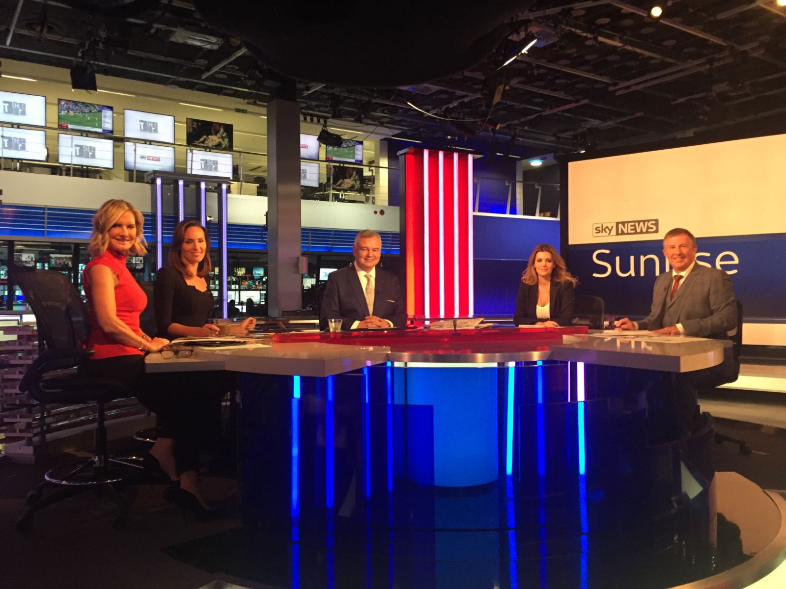 live tv interview training scotland pink elephant communications' bill mcfarlan on sky news sunrise eamonn holmes.