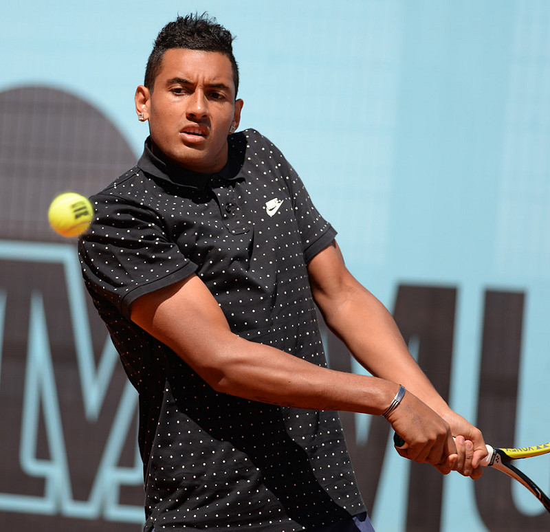 media handling scotland petulant nick kyrgios tennis star.