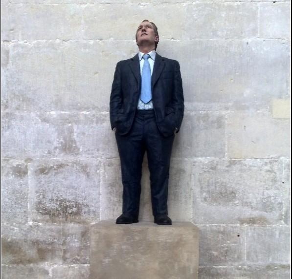 public speaking training courses scotland body language nab in suit looking skywards.