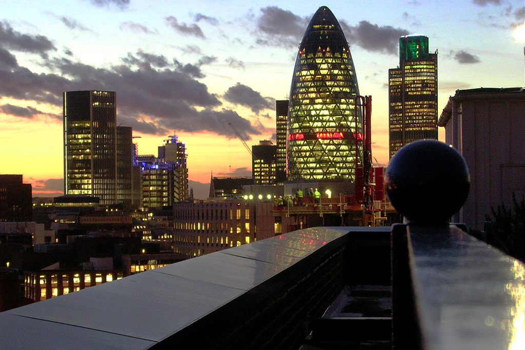 presentation scotland gherkin london city scape.