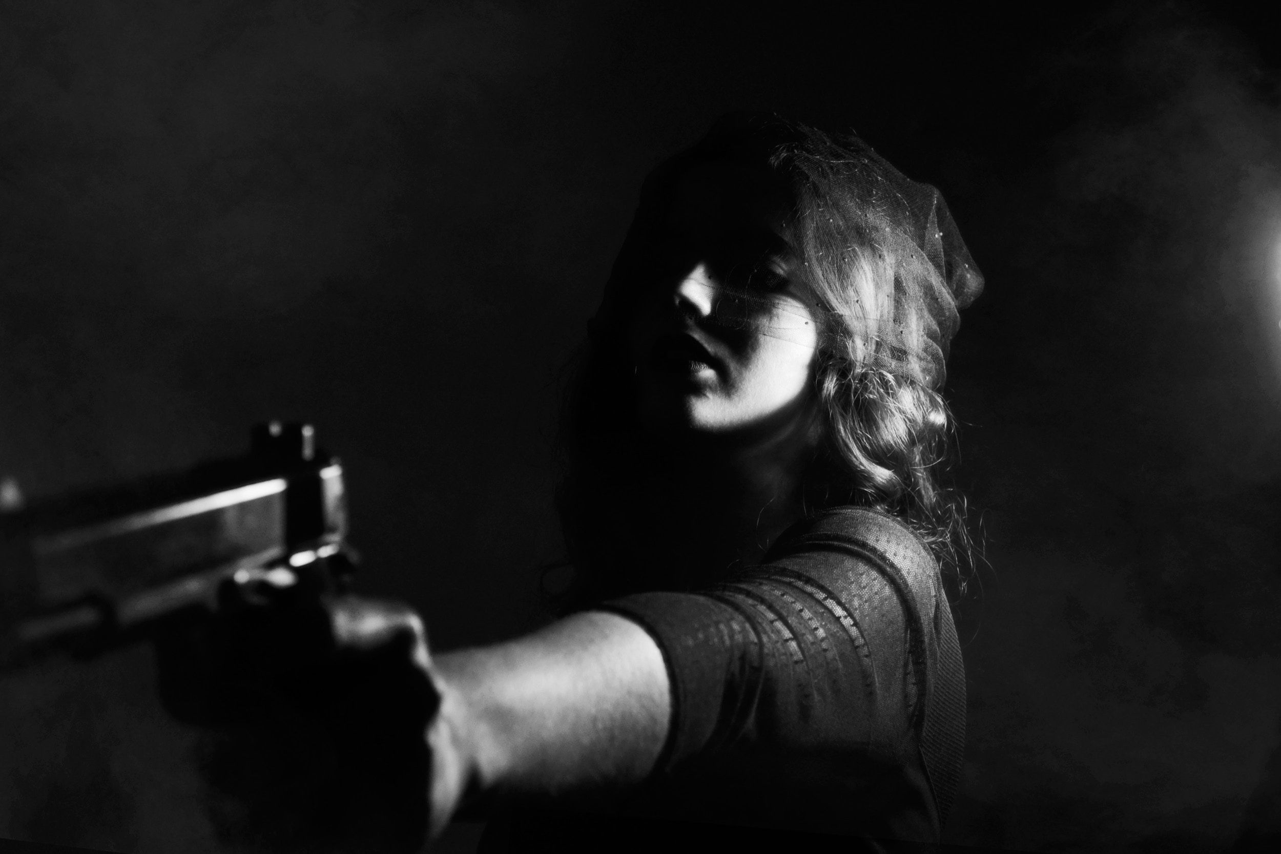 public speaking glasgow girl trigger on gun.