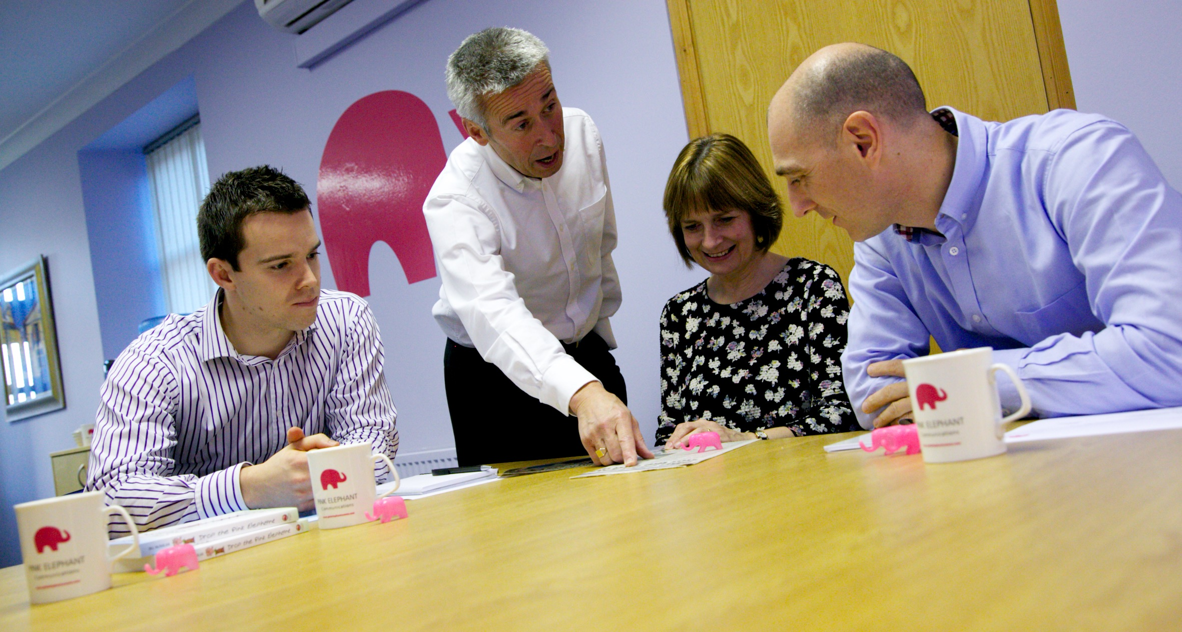 The Three R's of communication pink elephant communications team