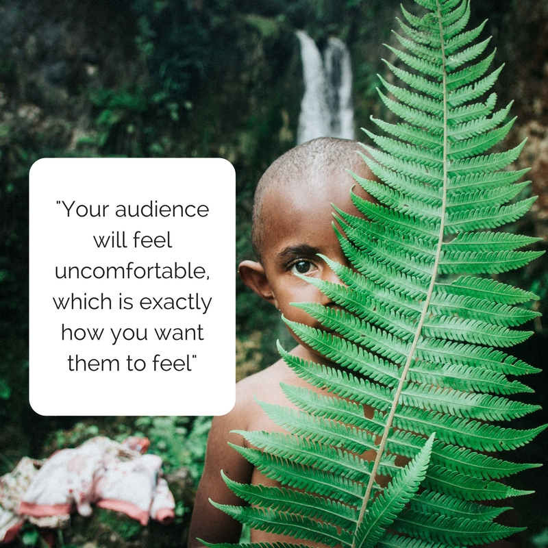 making your audience uncomfortable-presentations-pink-elephant-comms-ask for something