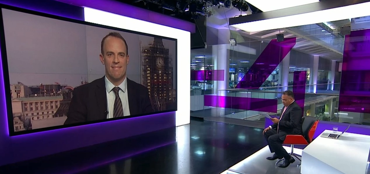 channel four dominic raab mistake media training.