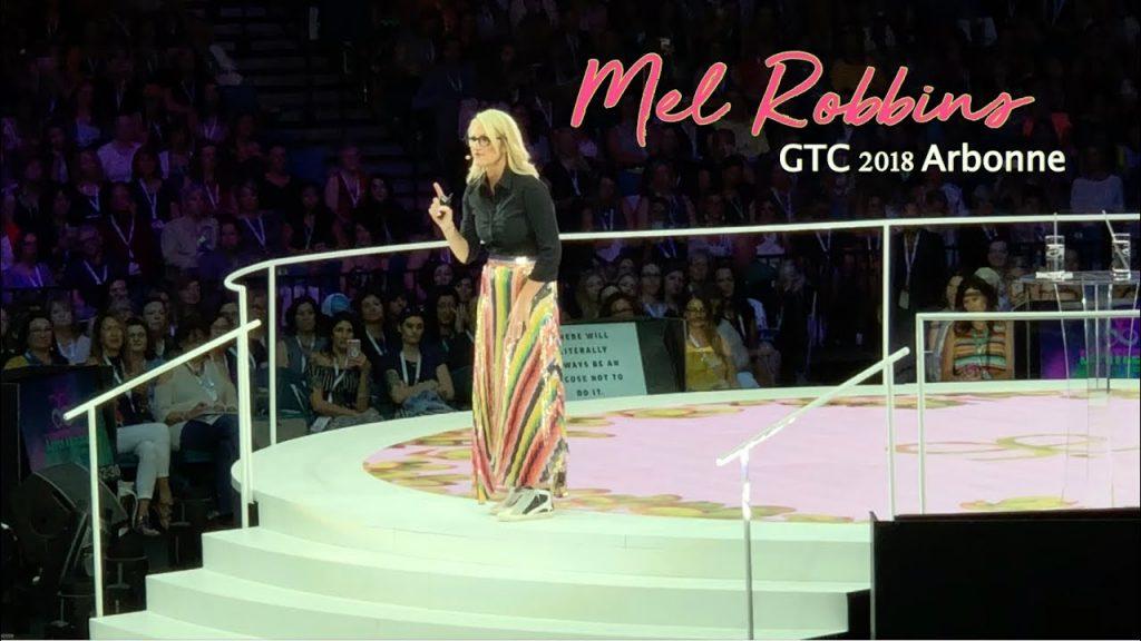 Mel Robbins presentation techniques memory