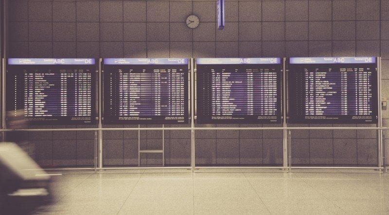 Silence the Inner Critic - A Global Problem - Airport board