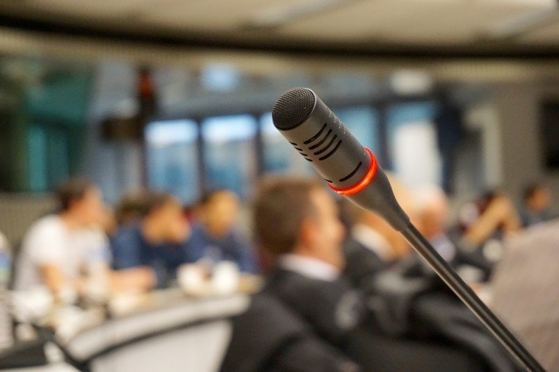 Conferences, power of thank you, microphone
