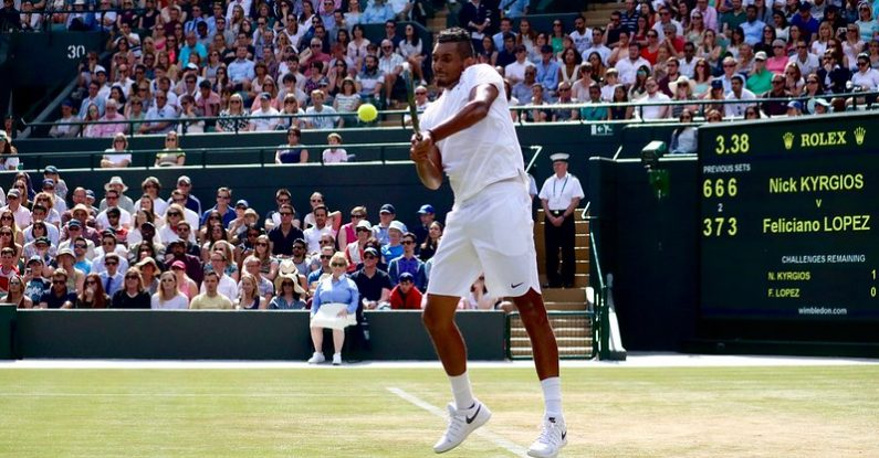 staying relentlessly positive Positivity Game Set Match Nick Kyrgios wimbledon