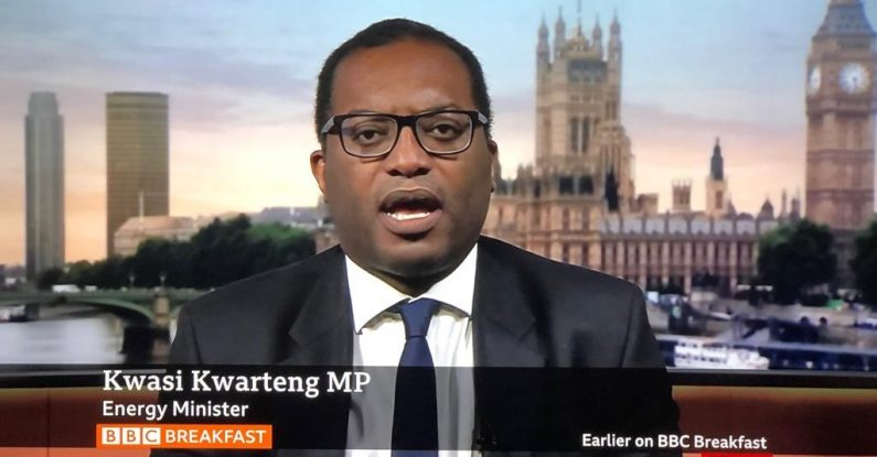 answering questions from journalists, Kwasi Kwarteng, BBC Breakfast