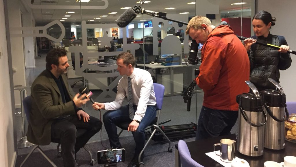 Media training, Colin Stone interviewing Michael Sheen, Work with Experts