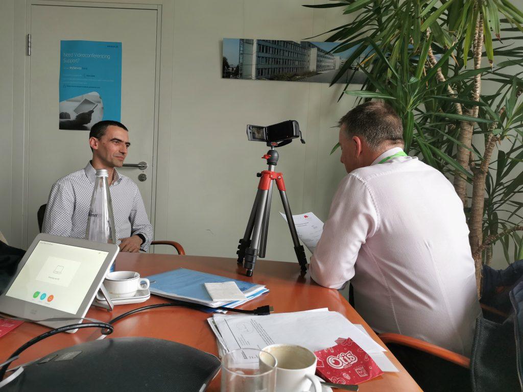 Presentation skills training in Scotland, bill mcfarlan, interviewing on camera