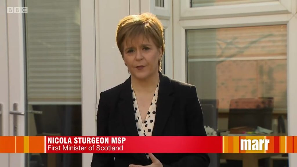 First Minister Nicola Sturgeon, Pink Elephant communications, the three stages