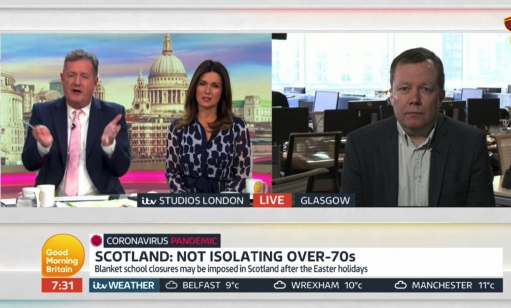 crisis management scotland, jason leitch, he's willing to use humour
