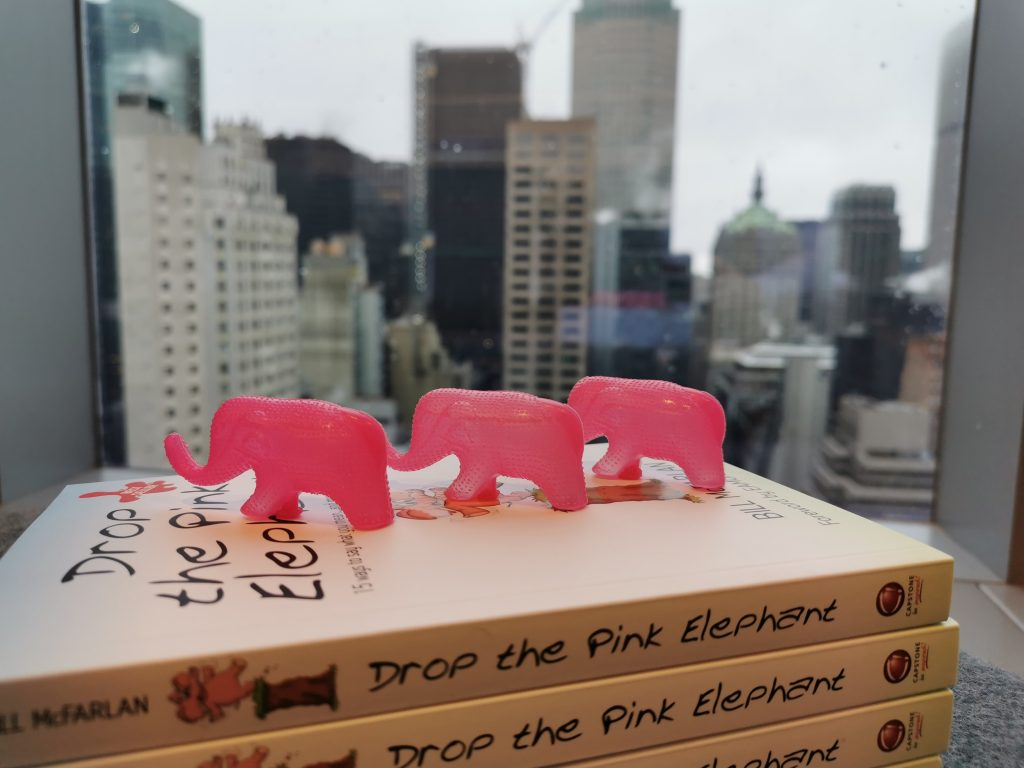 a bait pink elephant, Dominic Cummings' communication, analysis