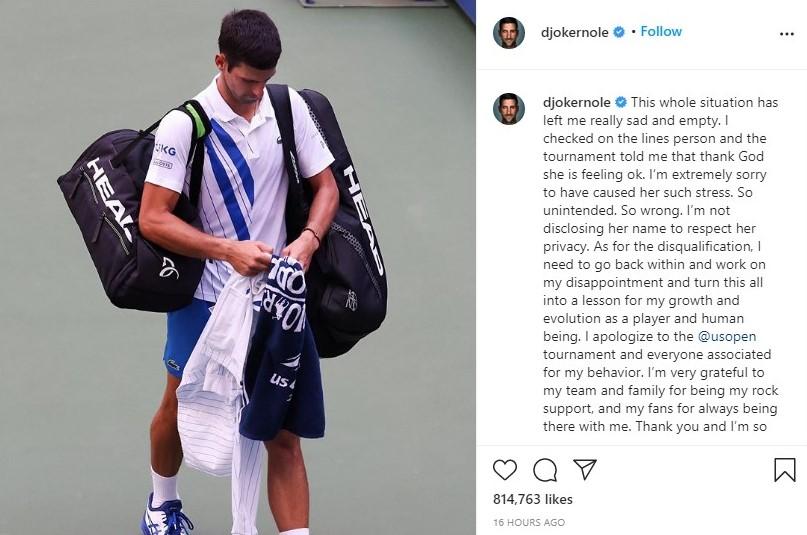 Djokovic Instagram Pink Elephant media training