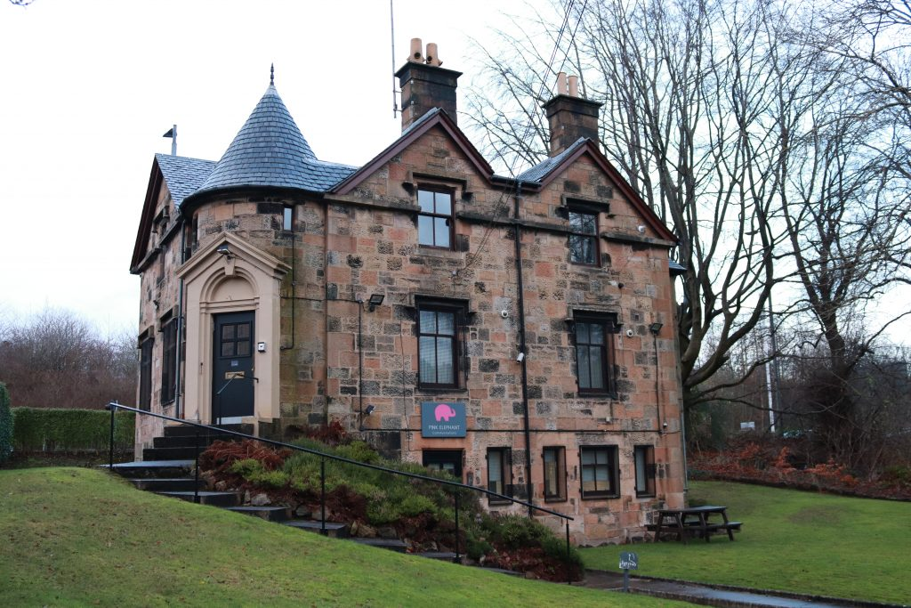 pink elephant, virtual presenter training, scotland