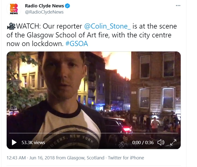 crisis media training scotland, pink elephant, art school fire