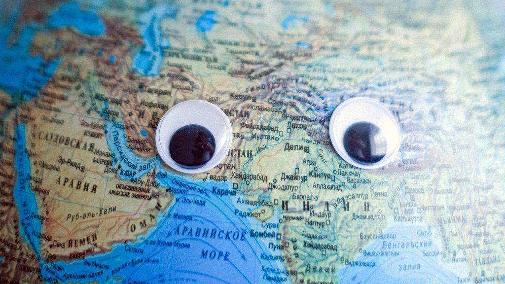virtual presentation training, cartoon eyes