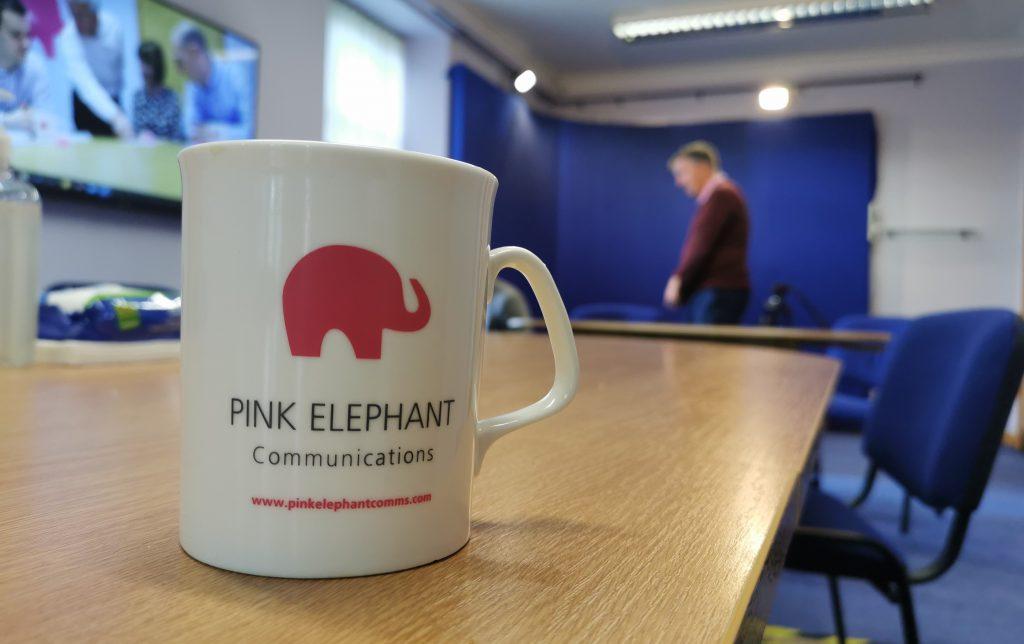 pink elephant communications, presenting remotely training