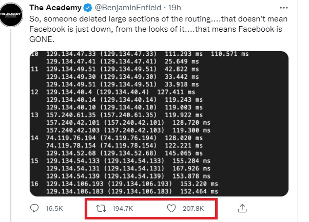 Social media misinformation, twitter, outage
